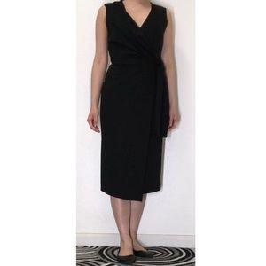 ASOS Black Elegant Wrap Dress, Size 4